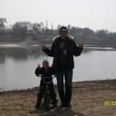 Я с сыном на озере. Мой сын хочет, иметь сестрёнку.